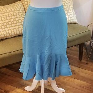 New York Co midi blue skirt